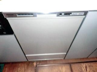パナソニック ビルトイン食洗機 NP45MD5S 施工後