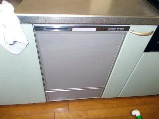 パナソニック ビルトイン食洗機 NP-P45MD2S-S 施工後