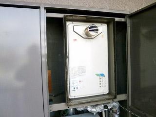 ノーリツ ガス給湯器 GQ-1627AWX-T-DX-BL-13A-15A 施工前