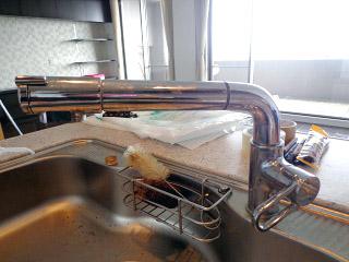 イナックス キッチン水栓 JF-AB461SYX–JW 施工前