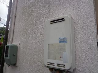 ノーリツ ガス給湯器 GT-C2452SAWX-2-BL-13A-20A 施工前
