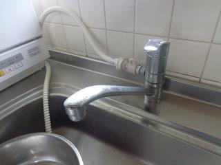 リクシル キッチン水栓 SF-HB420SYXBV 施工前