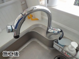 TOTO キッチン水栓 TKN34PBTN 施工後