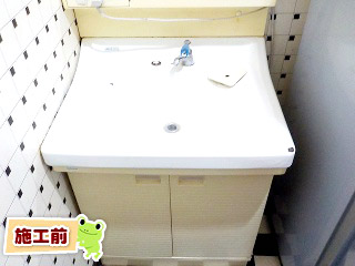 TOTO 洗面化粧台  LDPA060BAGEN2A-B1GFG2G 施工前