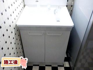 TOTO 洗面化粧台  LDPA060BAGEN2A-B1GFG2G 施工後