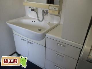 INAX 洗面化粧台 L-PR-005-75-VP1H 施工前