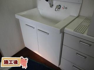 INAX 洗面化粧台 L-PR-005-75-VP1H 施工後