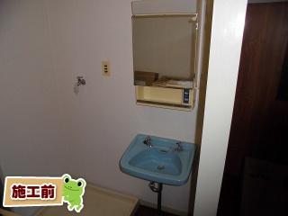 LIXIL 洗面化粧台 FTVN-503-MFK-501 施工前