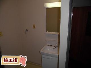 LIXIL 洗面化粧台 FTVN-503-MFK-501 施工後