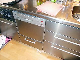 リンナイ 食洗機 RKW-C401-ASA-SV 施工後