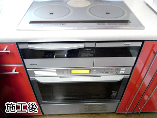 パナソニック ビルトイン電気オーブン NE-DB701P 施工後