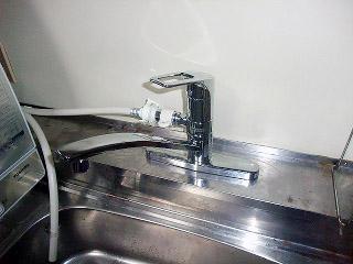 TOTO キッチン水栓 TKHG33E 施工後