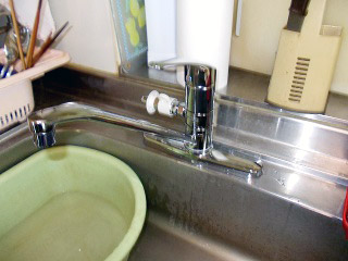 TOTO キッチン水栓 TKJ33U3S 施工後