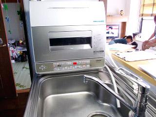 東芝 卓上食洗機 DWS-600D-C 施工後