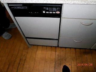ハーマン 食洗機 FB4504PF 施工後