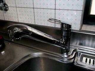 TOTO キッチン水栓 TKGG38E 施工後