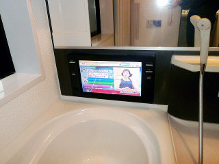 ツインバード 浴室テレビ VB-J16B 施工後