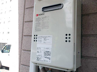 ノーリツ ガス給湯器 GQ-1639WE-13A-15A 施工後