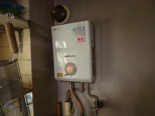 ノーリツ 瞬間湯沸器 GQ-521W-13A 施工前