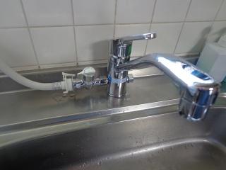 リクシル キッチン水栓 SF-HB420SYXBV 施工後