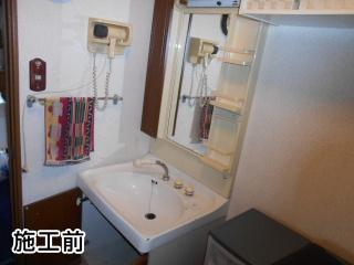 パナソニック 洗面化粧台 GQM75KSCW-GQM75K1SMK 施工前