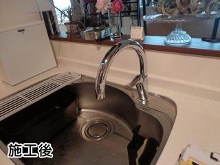 リクシル キッチン水栓 SF-NA471SNU 施工後