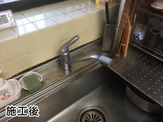 TOTO キッチン水栓 TKGG31E 施工後