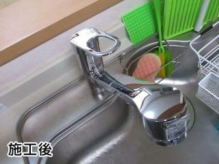 TOTO キッチン水栓 TKGG32EBS-KJ 施工後