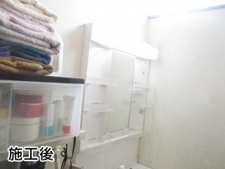 パナソニック 洗面化粧台 GQM75KSCW–GQM75K1NMK 施工後