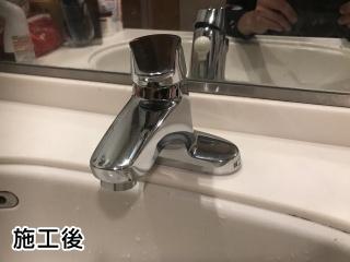INAX 洗面水栓 LF-B350S 施工後