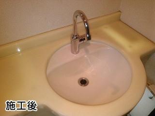 TOTO 洗面水栓 TL155AFR 施工後
