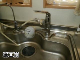 リクシル キッチン水栓 JF-AF442SYX-JW 施工前