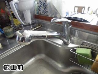 TOTO キッチン水栓 TKN34PBTRR-KJ 施工前
