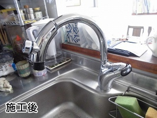 TOTO キッチン水栓 TKN34PBTRR-KJ 施工後