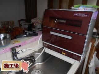 パナソニック 卓上食洗機 np tr9 t 福岡リフォームトリカエ隊設置事例集