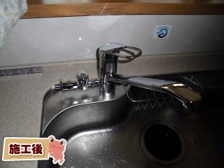 TOTO キッチン水栓 TKGG31EH 施工後