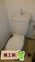 LIXIL トイレ YBC-ZA10PM–YDT-ZA180PM-BW1+CW-KA21-BW1 施工前