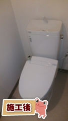 LIXIL トイレ YBC-ZA10PM–YDT-ZA180PM-BW1+CW-KA21-BW1 施工後