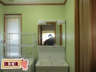 TOTO 洗面化粧台 T-VS-043-75-A 施工後