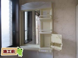 パナソニック 洗面化粧台 GQM75KSCW–GQM75K1NMK 施工前