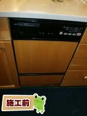 リンナイ 食器洗い乾燥機 RSW-F402C-B 施工前
