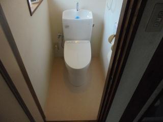TOTO トイレ TSET-QR9-WHI-1 施工後